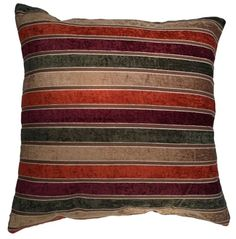 Four Stripes -18x18 Inches, Multi-shades of Stripes on Velour Decorative Pillow Cover. (Mixed Maroon) Exotique Imports http://www.amazon.com/dp/B00I4953C4/ref=cm_sw_r_pi_dp_WSLBub04GBH5W