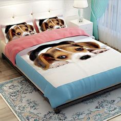 Teen Girl Bedrooms - Soft Polyester Dog Bedding Duvet Cover Sets Twin for Boys and Girls Teens Bedding Sets with Zipper No Comforter -- More information can be discovered at the photo url. (This is an affiliate link). Bed Duvet Covers, Duvet Cover Sets, Teen Bedding Sets, Teen Girl Bedrooms, Pet Store, Dog Design, Dog Bed, Comforters, Dog Lovers