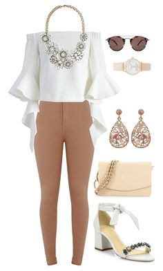 """Untitled #1425"" by shell26 ❤ liked on Polyvore featuring Alexandre Birman, Chicwish, Chanel, Luxiro, Kate Spade and Oliver Peoples"