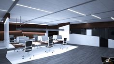 Diseño zonas de trabajo en oficina diseño moderno Conference Room, Table, Furniture, Home Decor, Design Offices, Modern Design, Decoration Home, Room Decor
