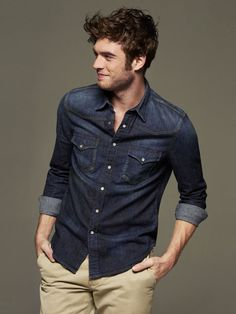 Chambray shirt #fashion #mensfashion #menswear #style #outfit #shirt #nattyguy