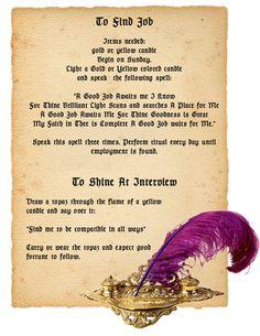 Magick Spells:  To Find Job Spell. www.psychickerilyn.com www.facebook.com/Psychic.Kerilyn