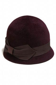 48dbe06d516 Cloche Hat in Burgundy Cinnamon Quill