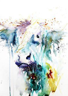 JEN BUCKLEY ART signed PRINT of my original HIGHLAND COW watercolour A4