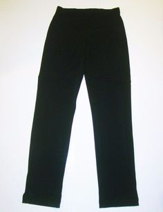 Cache Black Faux Pockets Poly-Spandex Stretch Waist Dress Pants Womens S Small #Cach #DressPants