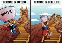 Real life heroes drop the costume. Real Life Heros, Water Challenge, Water And Sanitation, Green Nature, Save Water, Girl Power, Fiction, Death, Cartoon