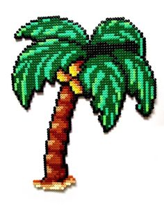 Palm tree -- perler beads