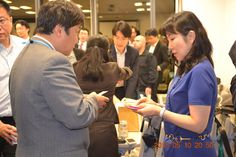 Exchange Business card after finish Seminar