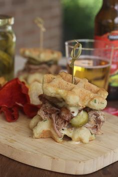 #paleo Sweet Pulled Pork Waffle Sliders