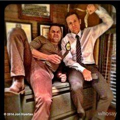 Jon & Seamus on set haha! :D ❤