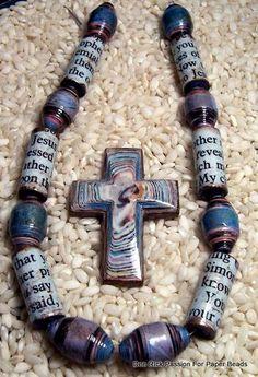 Perlas de papel y papel grano granos Storybook colgante quién era Jesús