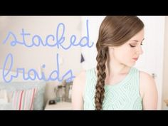 ▶ Stacked 3D Braids Hair Tutorial - YouTube