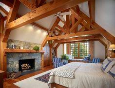 Heavy Timber Tudor traditional bedroom