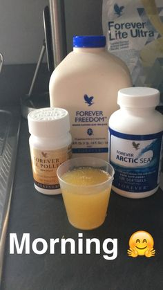 A great way to start your day! Freedom for your joints, Arctic Sea (natural fish oil, rich in and Bee Pollen - an all-natural supplement with no preservatives. Forever Living Clean 9, Forever Living Aloe Vera, Forever Aloe, Aloe Heat Lotion, Aloe Vera Juice Drink, Forever Freedom, Forever Business, Forever Living Products, Natural Supplements