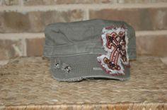 05046eb742109 Cross Bling Hat Custom Bling Hat by shellworks on Etsy