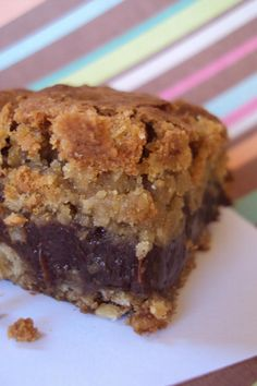 Deep Dish Oatmeal Chocolate Cookie Bars
