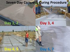 Seven Day Concrete Curing Procedure