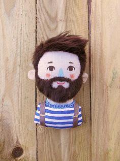 Doll Crafts, Cute Crafts, Diy Doll, Fabric Dolls, Fabric Art, Origami Toys, Tilda Toy, Doll Painting, Plush Dolls