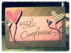 Tarjeta de cumpleaños #handmade #sizzix #manualidades.