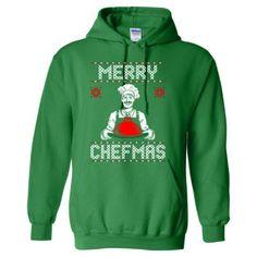 Merry Chefmas Ugly Christmas Sweater - Heavy Blend™ Hooded Sweatshirt