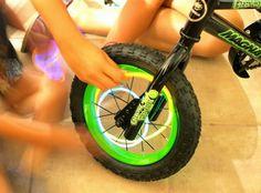Place glow sticks in your bike's spokes