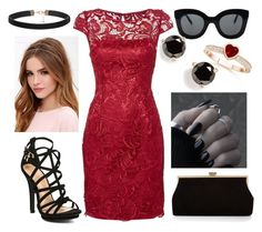 """""""Lace and Leather"""" by hayliemcullough ❤ liked on Polyvore featuring Adrianna Papell, Monsoon, CÉLINE, Kate Spade, Lulu*s, women's clothing, women, female, woman and misses"""