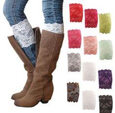 Women's Stretch Lace Boot Leg Cuffs Only $2.71 Shipped!