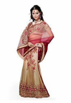 Fabdeal Women Indian Designer Wear Embroidered Saree Cream & Red Fabdeal, http://www.amazon.de/dp/B00GARH5KK/ref=cm_sw_r_pi_dp_MNQptb0Q48JYC