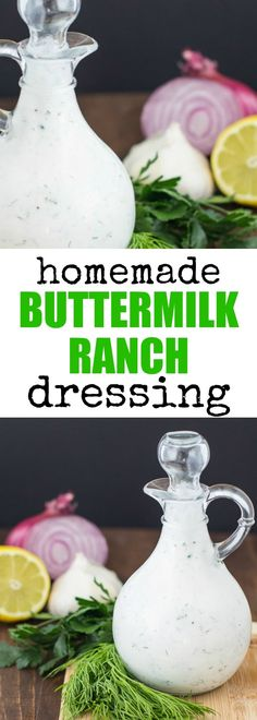 This is THE buttermilk ranch dressing you've been waiting for your whole life. Thick, creamy, tangy, and full of fresh herbs! Store-bought? Never again. via @culinaryhill