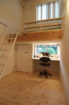 ロフトベッド」で狭いお部屋も広々使おう!|SUVACO(スバコ) 建築家:久保田典明「狭小土地に建つ自然素材で造る2世帯