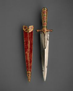*Dagger with Jeweled Hilt. Date:     ca. 1605–27. Geography:     Northern India.