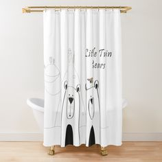 Add a warm and cozy touch to your bathroom decor with a shower curtain. Bath Accessories, Warm And Cozy, Floor Pillows, Wall Tapestry, Tub, Duvet Covers, Twins, Curtains, Bear