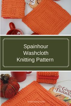 Spainhour washcloth knitting pattern has an amazing design that looks complicated. Only you will know how easy it was to knit using only knit & purl stitches and Knit So Easy's step by step pattern instructions. Knitted Washcloth Patterns, Knitted Washcloths, Dishcloth Knitting Patterns, Knit Dishcloth, Easy Knit Hat, Knitted Hats Kids, Knit Purl Stitches, Fall Knitting, Crochet Cross