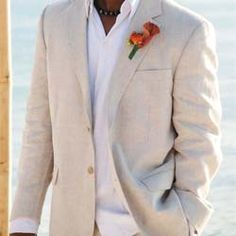 Linen groom suits are comfortable, casual, and stylish. They are ideal mens beach wedding attire for weddings taking place on a beach or during warm summe Island Importer is a suit online that has many mens suit are ideal mens beach wedding or during warm summer months.