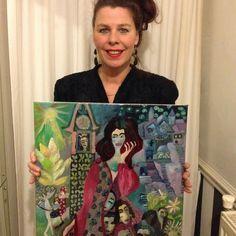 Ineke Reina Wiersema met haar zelfportret.