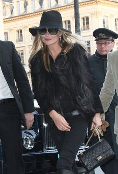 Kate Moss may be classic, but her Chanel Flap is 2.55