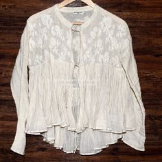 MES DEMOISELLES Jacket Mae Floral Embroidered Top Size Euro 42, US 12 (Large).  Excellent condition. $268 Retail + Tax.    Gorgeous embroidered gauze swing jacket by Mes Demoiselles Paris. Sheer and delicate with optional tie front closures. Unlined, sheer. Cleaned once.   Cotton. Imported.   ❗️ No trades or holds.    Bundle 2+ items for a 20% discount!    Browse through my closet for even more items from this brand!   ✔️ Items are priced to sell, however reasonable offers will be considered…