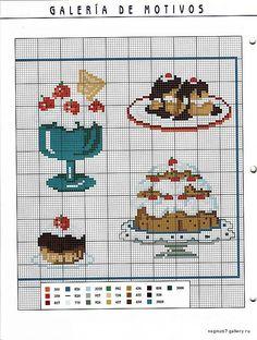 Charts Cross Stitch and Craft: Kitchen Cross Stitch,Cross Stitch/Embroidery,Cross stitching,Pins & Needles, Modern Cross Stitch Patterns, Cross Patterns, Cross Stitch Designs, Embroidery Patterns, Cupcake Cross Stitch, Mini Cross Stitch, Cross Stitch Charts, Cross Stitching, Cross Stitch Embroidery