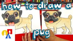 Learn how to draw a pug nice and easy, step-by-step for beginners with award winning illustrator and Drawing Champion, Shoo Rayner If you like drawing, make . Art For Kids Hub, Art Hub, Art Lessons For Kids, Kids Activities At Home, Kids Crafts, Pug Art, Pug Puppies, Cute Pugs, Drawing For Kids