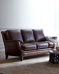 our couch and love seat are similar to this- more modern looking though