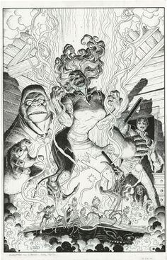 EvilDead Monkeyman and O'brien, in Steven Huie's Arthur Adams Comic Art Gallery Room - 1298981