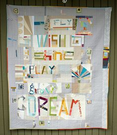 the best ever gift by Spotted Stone Studio {Krista}. collaborative, two-sided baby quilt.