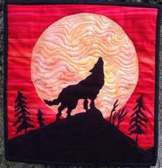 easy applique wolf howling at the moon by landscapelady ...