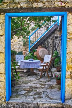 Courtyard in Lofou, Cyprus Akrotiri And Dhekelia, Cyprus Island, Visit Cyprus, Cyprus Greece, Tuscan Style Homes, Outdoor Rooms, Outdoor Decor, North Cyprus, Limassol