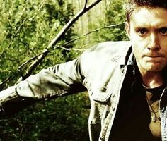 Dean running from a hell hound in his nightmare. 3x16 No Rest For The Wicked