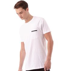 Brave Soul Mens Faustian T-Shirt Optic White Brave Soul short sleeve jersey tee with layered neck and contrast zipped chest pocket detailing. http://www.MightGet.com/february-2017-2/brave-soul-mens-faustian-t-shirt-optic-white.asp