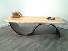 1000 images about tables basses on pinterest tables - Table bois massif contemporaine ...