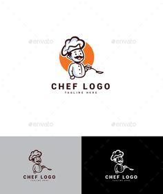 Chef Logo - Humans Logo Templates Logo Design Template, Logo Templates, Logo Chef, Best Logo Design, Best Logo