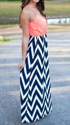 Blue Stripe Print Color Block Patchwork Maxi Dress - Maxi Dresses - Dresses