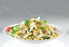 Csirkehúsos kukoricasaláta recept képpel. Hozzávalók és az elkészítés részletes leírása. A csirkehúsos kukoricasaláta elkészítési ideje: 25 perc